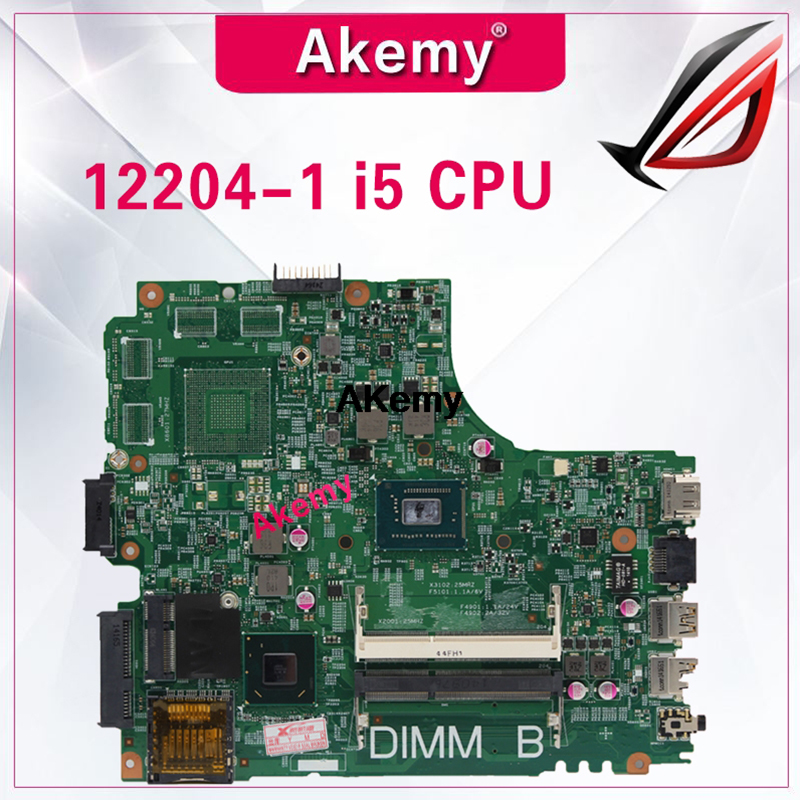 12204-1 For <font><b>DELL</b></font> INSPIRON 2421 <font><b>3421</b></font> 5421 laptop motherboard CPU 12204-1 CN-07GDDC <font><b>I5</b></font> DNE40-CR orginal teste motherboard image