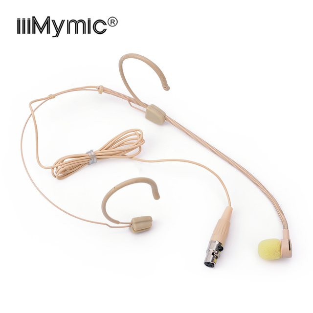 Perfect for Singing Concert !! 3Pin XLR Headset Headworn Microphone Uni directional Condenser Mic for AKG Bodypack Transmitter