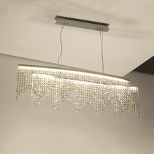 Modern K9 Crystal Led Pendant Lights Lustre Chrome Steel Lustre bedroom Dining Room Led Lighting