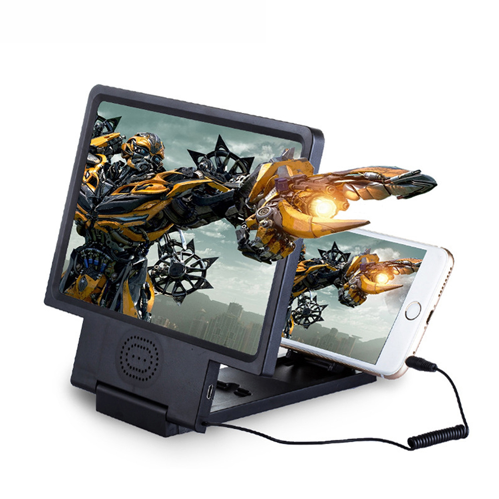 1pc Phone Screen Magnifier Cellphone Projector Enlarged Amplifier Mobile Bracket Desktop Holder 3D HD Movie Video Stand