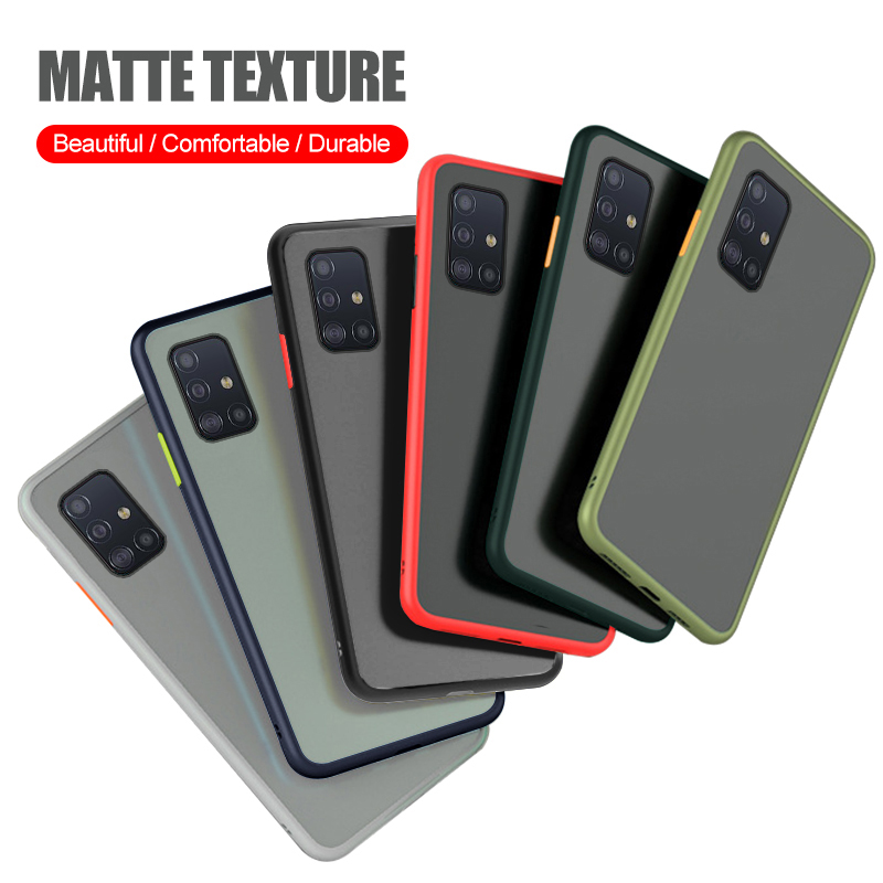 Translucent Frosted Matte Soft Case <font><b>for</b></font> <font><b>Samsung</b></font> <font><b>galaxy</b></font> A51 A71 <font><b>A70</b></font> A50S <font><b>A50</b></font> A40 A30 A20S A20 A10 M30S Silicone <font><b>Shockproof</b></font> Case image