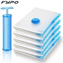 Sac sous vide pour économie de place, sac de rangement avec bordure transparente à valve, sac de rangement pliable compressé