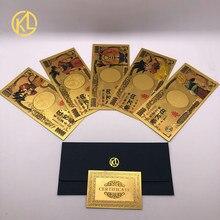 1-10 шт./компл. анимации «Драконий жемчуг зет популярная юбка Защита от солнца красочные Япония 10000 иена Япония золото банкнот в Позолоченные банкноты