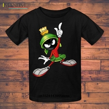 Funny Men t shirt white t-shirt tshirts Black tee Youth Quotes Slim Fit Looney Tunes Marvin The Martian T-Shirt(1)