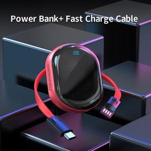 Image 3 - Mini Power Bank LED Display Portable Charger PowerBank Mirro Surface Bank Power10000mah Slim Bank For Iphone12 Xiaomi
