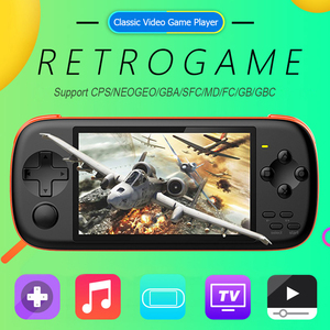 J6 Handheld Portable Game Console 4.3 inch IPS Screen HD 128-bit Simulator Arcade Game Player for NES PSP GBA SFC kid gift