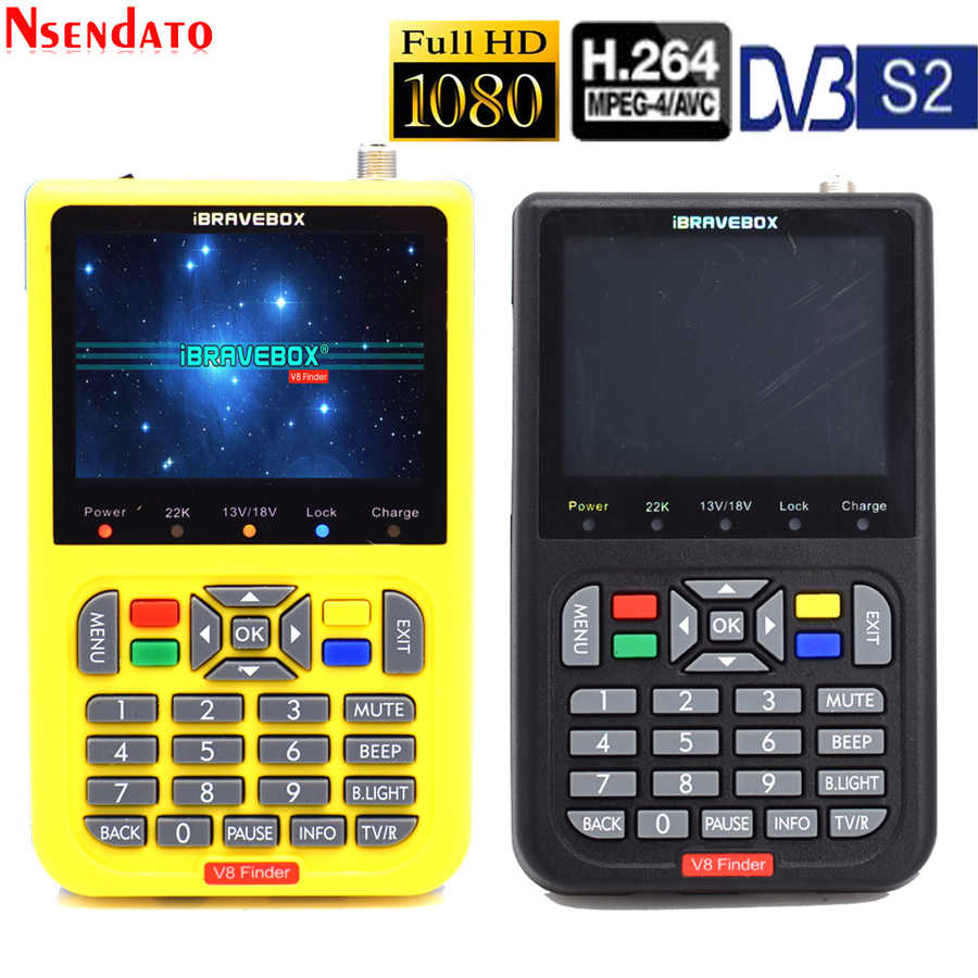 V8 Finder Digitale Satelliet Finder 3.5 inch LCD Satellite Finder Digitale Satelliet Signaal Finder Meter Satelliet Meter Satelliet