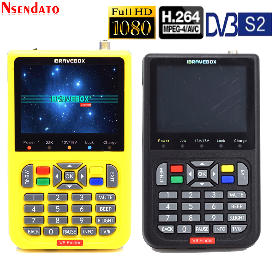 V8 Finder Digital Satellite Finder 3.5 Inch LCD Satellite Finder Digital Satellite Signal Finder Meter Satellite Meter Satellite