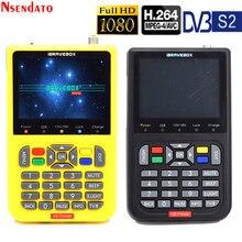 V8 localizador de satélite digital 3.5 polegada lcd localizador de satélite digital localizador de sinal satélite medidor satélite satélite