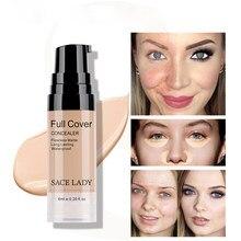 Full Cover Liquid Concealer Makeup Eye Dark Circle Cream Face Corrector Long-Last Waterproof Base Make Up 6ml Cosmetic Wholesale