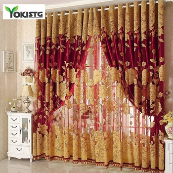 YokiSTG Modern Luxury Embroidered Sheer Curtains for Living Room Bedroom Kitchen Door Tulle Curtains Drapes Window Treatments new high quality embroidered luxury curtains window for living room bedroom kitchen tulle curtains valance drapes