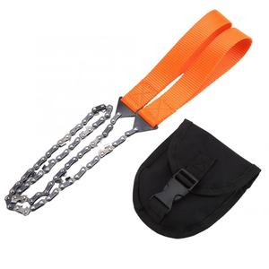 Chainsaw Portable Handheld Survival Chain Saw Emergency Chainsaw with Bag Camping Hiking Tool Wood Cutting Machine