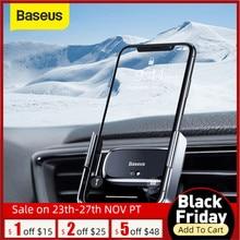 Baseus רכב מחזיק טלפון מיני חשמלי הכבידה מגנטי מחזיק אוויר לשקע קליפ מחזיק עבור iPhone 11X XS סמסונג s9