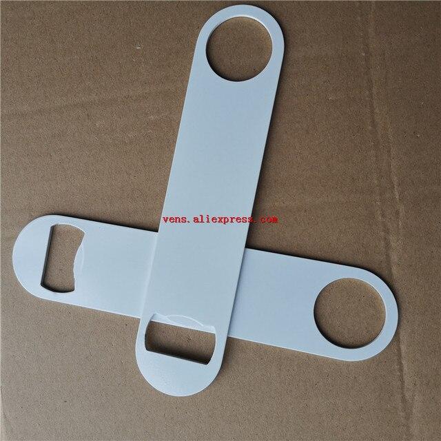סובלימציה ריק מתכת לבן בקבוק פותחן פונקציה מתכלה הדפסת העברה חמה מתכת ריק חומר 10 יח\חבילה