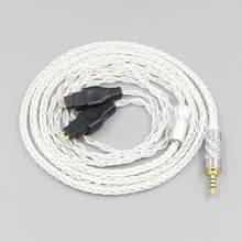 LN006194 câble d'écouteurs à plaque d'argent pur équilibré à 8 noyaux pour Sennheiser HD580 HD600 HD650 HDxxx HD660S HD58x HD6xx