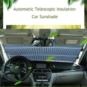 Image 2 - שדרוג רכב שמשה קדמית צל שמש אוטומטי הארכת רכב כיסוי חלון שמשיה UV מגן שמש מגן וילון 46CM/65CM/70CM