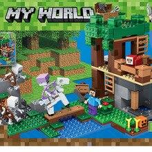 Новая серия legoingly Steve The Big Fig с попугаем Модель Строительный блок кирпичные игрушки для детей подарок игрушки для детей
