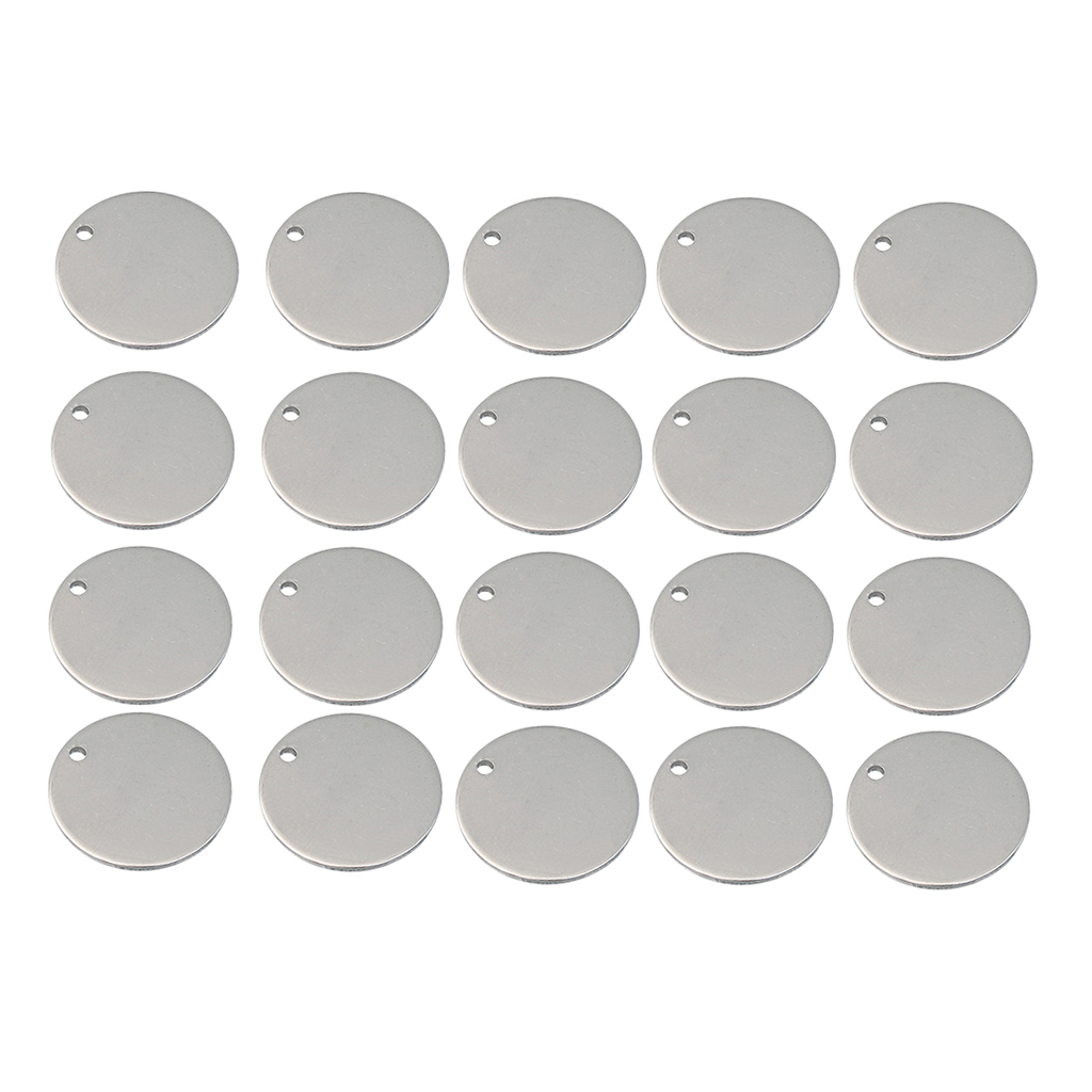 20 Pieces Metal Flat Round Circle Blank Coin Stamping Charms Tag Pendants Engrave Disc Coins Multiple Sizes Family Member Gift