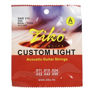 6 Strings/Set Ziko Dag Acoustic Guitar Strings Musical Instruments Acoustic Guitar String Guitar Parts free shipping 12 string guitar grand auditorium body armrest bevelled cutway 12 strings solid acoustic electric guitar