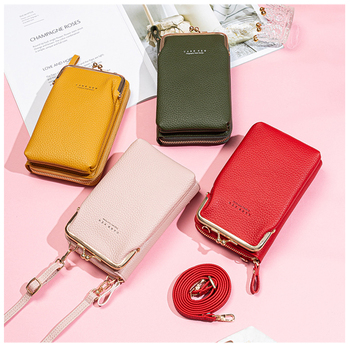 High Quality Phone Bag PU Leather Large Capacity Travel Portable Shoulder Bag Brand Ladies Crossbody Bag Fashion Messenger Bag new cowhide shoulder bag leather messenger bag buckle fashion europe and the united states portable ladies bag