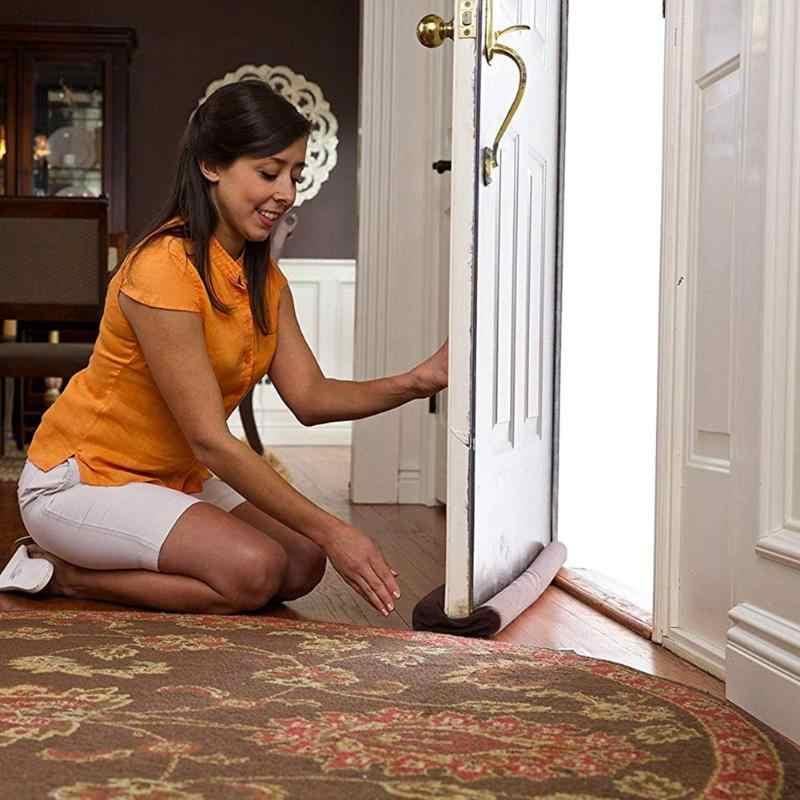 90*14*4cm esponja viento bloqueador de polvo sellador de Tope de puerta ventana aislante Protector de la puerta se detiene suave a prueba de polvo