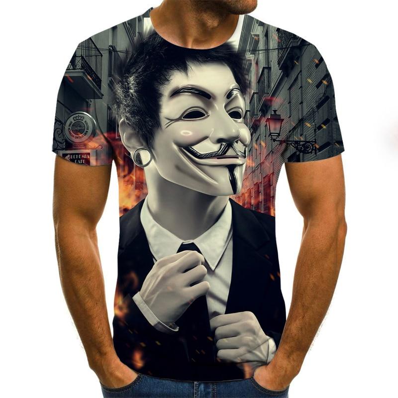 2020 Newest Clown 3D Printed T Shirt Men Joker Face Casual Male Tshirt Clown Short Sleeve Funny T Shirts Tops Tee