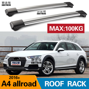 2Pcs Roof bars For Audi - A4 Allroad (8WH, B9) [2016-today]  Aluminum Alloy Side Bars Cross Rails Roof Rack Luggage CUV SUV LED