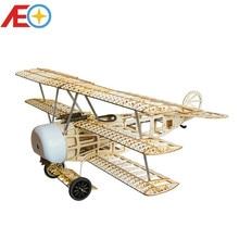 цена на Balsawood Airplane Model Laser Cut Electric Power Fokker 770mm Wingspan Building Kit Woodiness model /WOOD PLANE