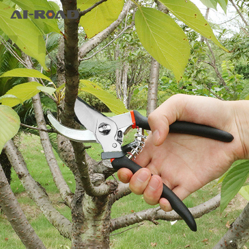 Plastic Handle Garden Scissors Branch Shears Gardening Pruning Scissors Plant Trim Horticulture Hand Pruner Cut Secateur Shrub