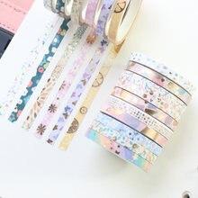 Domikee набор милых японских декоративных рулонных лент из золотой
