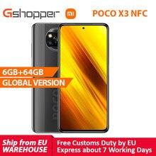 Xiaomi – Smartphone POCO X3, en stock, Version globale, NFC, 6 go 64 go, Snapdragon 732G, caméra 64mp, 5160mAh, Charge 33W, 6.67 pouces, PocoX3