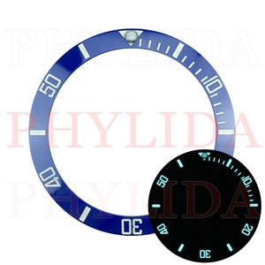 Image 4 - ¡Oferta! De 38mm anillo negro, azul, verde, superluminoso, de cerámica, con bisel para reloj, compatible con Sub buzos SKX007/009, reloj con total luminosidad