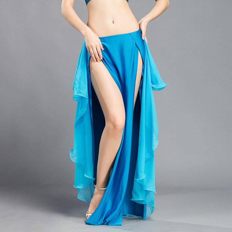 Image 3 - New Performance belly dance Costume Waves Skirt Dress slit Skirt Dress Carnival Colour 6Belly Dancing   -