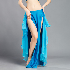 Image 3 - New Performance belly dance Costume Waves Skirt Dress slit Skirt Dress Carnival Colour 6
