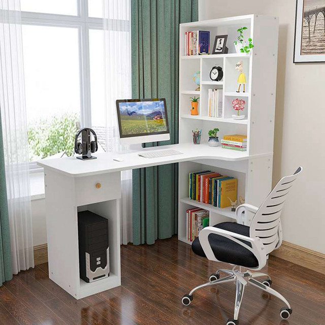 Computer desk desktop desk bookcase combination simple student writing desk study desk bookshelf escritorios de habitación 6* 1