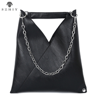 Fashion Shoulder Bags women PU Leather handbag ladies large tote bag brand famous designer Crossbody black champagne Chain sac