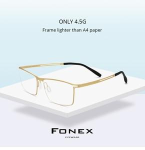 Image 2 - B Titanium Eyeglasses Frame Men Prescription 2019 Ultralight Full Elastic Myopia Optical Glasses Frame Man Screwless Eyewear 874