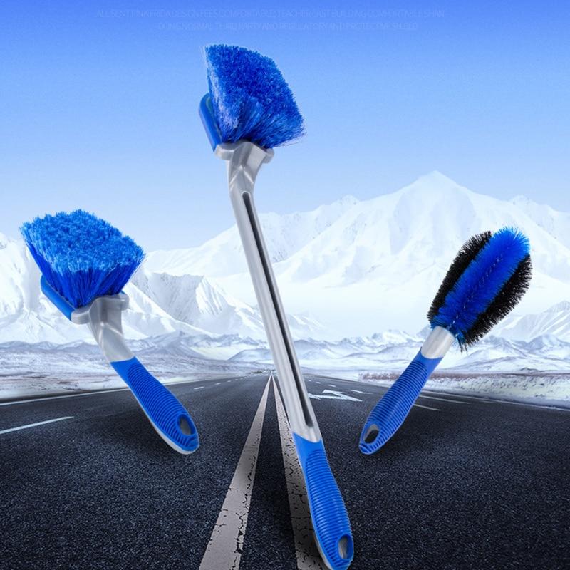 3Pcs/set Car Wash wheel Hub Brush Long Handle Car Tire Cleaning Brush 3