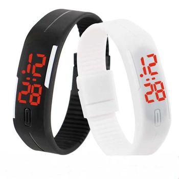 Męskie zegarki mężczyźni LED zegarki cyfrowe mężczyźni zegarki sportowe moda z tworzywa sztucznego zegarki elektroniczne Relogio Masculino erkek kol saati 2019 tanie i dobre opinie WOONUN 24cm Cyfrowy Skóra wdrażania wiadro Nie wodoodporne 10mm Prostokąt 16mm led watch 035400 Nie pakiet 25mm Silikon