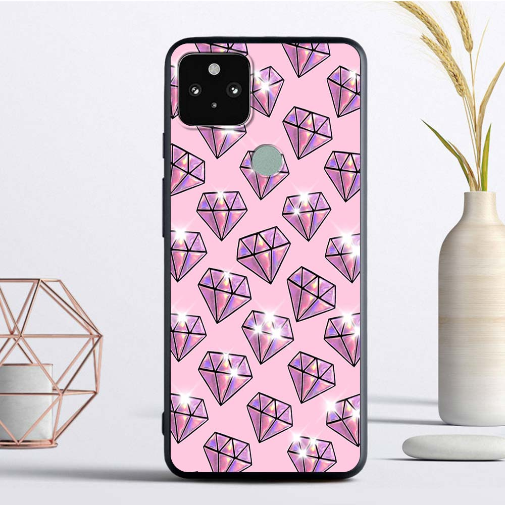 Crystal Cool Diamond Luxury Phone Case For Google Pixel 4 XL Fandas For Pixel 5 4A 4G 4A 5G Soft TPU Coque Back Cover Casing Bag