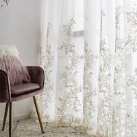Luxury Yarn Embroidered 3D Screens Princess Tulle Curtains for Bedroom Romantic Sheer Children's Room Window Decoration