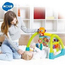 цена 5 in 1 Play Gym Baby Toy Play Mat & Sleeping Bear Educational Crawling Activity Mat Play Gym Carpet HOLA 2105 в интернет-магазинах
