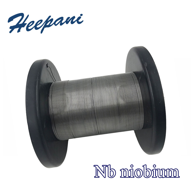 Free Shipping 99.95% Purity Nb Niobium Wire D0.4mm - D2mm Pure Niobium Thin Welding Silk For Scientific Research