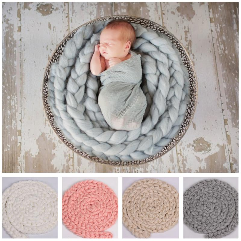 Newborn Photography Props Accessories Wool Braid Wrap Stretchy Wrap Baby Scarf Newborn Photo Props Blanket  Soft Baby Blanket