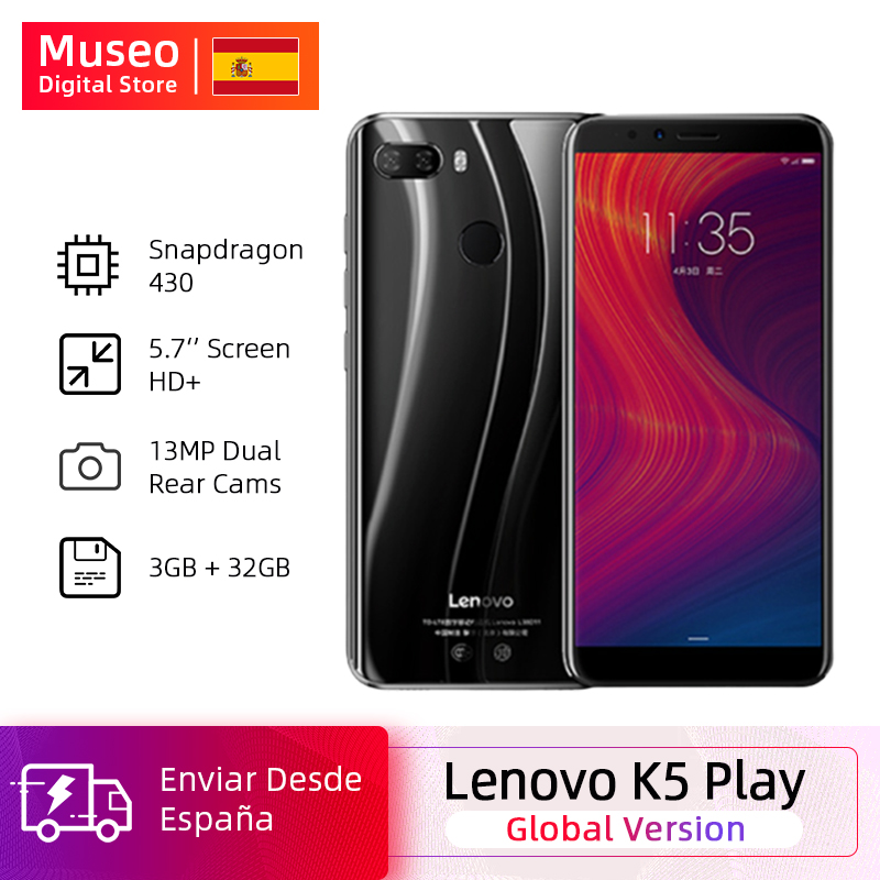 "Global Version Lenovo K5 Play 3GB 32GB Snapdragon 430 Octa Core Smartphone 1.4G 5.7 ""18: 9 Fingerprint Android 8 13.0MP Camera"