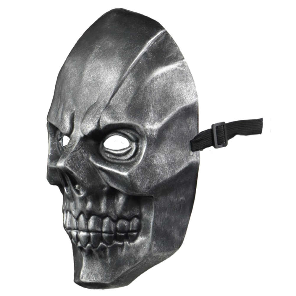 Birds Of Prey Harley Quinn Cosplay Mask Villain Black Mask Skull Half Face Skeleton Masquerade Face Mask Halloween Prop Aliexpress