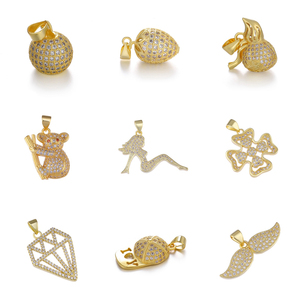 Juya New Arrival Charm Pendants Supplies Micro Pave Zircon DIY Animal Fruit Cross Charms For Handmade Fashion Jewelry Making