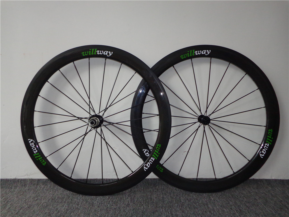 Carbon Wheels Bike Road Carbon Wheelset 700c Clincher  50mm in heigth and 23mm in width