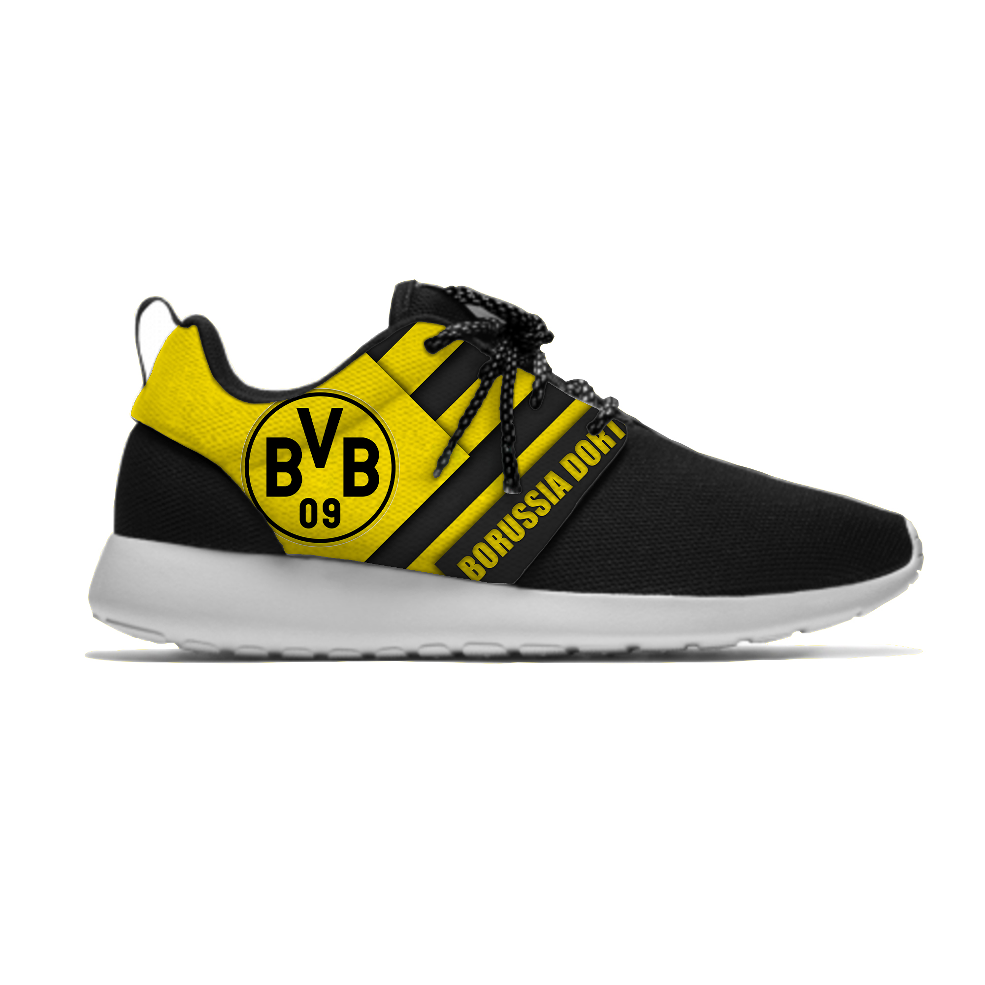 Borussia Dortmund Sport Shoes Football Club FC Fans Soccer Lightweight Breathable Casual Sneakers Men/Women Running Meshy Shoes