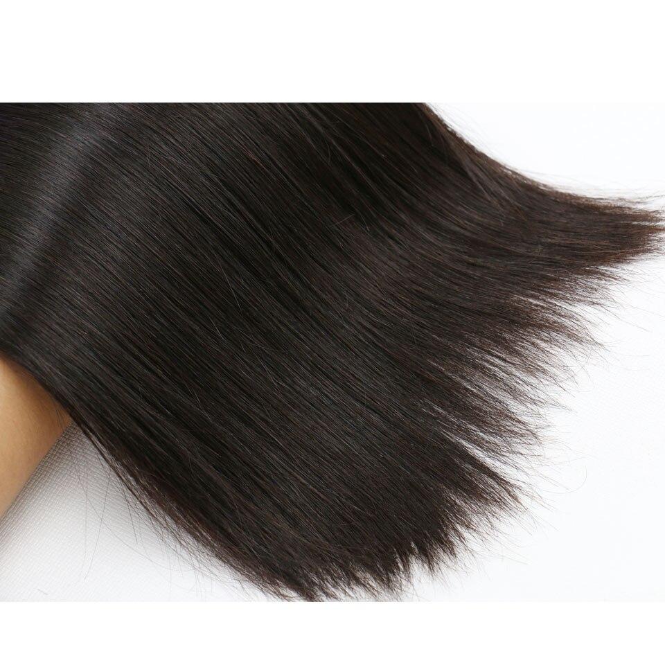 Straight Hair Bundles Brazilian Hair Weave Bundles 100% Human Hair 3/4 Bundles Deal Non-Remy Hair Extensions Medium Ratio